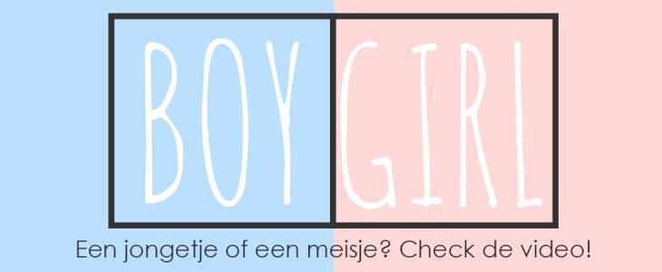 Een jongen of meisje?